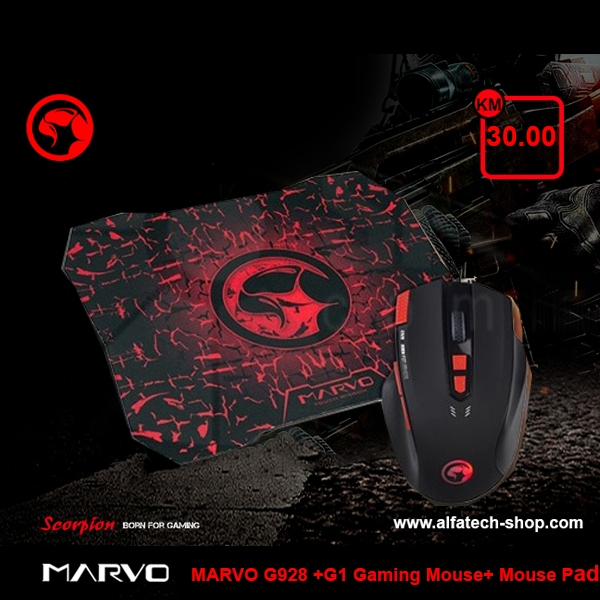 MARVO G928 +G1 Gaming Mouse+ Mouse Pad