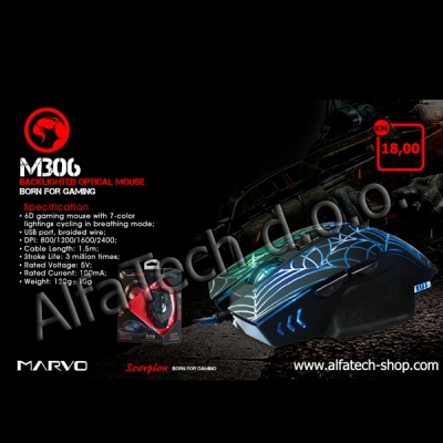 MARVO M306 Wired Gaming Mouse