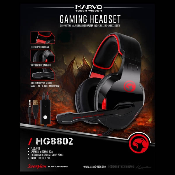 MARVO HG8802 Gaming Headset